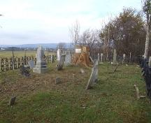 Morse Cemetery, Carleton Corner, Nova Scotia, 2006.; Heritage Division, NS Dept. of Tourism, Culture and Heritage, 2006.