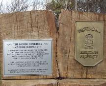 Morse Cemetery plaques, Carleton Corner, Nova Scotia, 2006.; Heritage Division, NS Dept. of Tourism, Culture and Heritage, 2006.