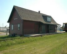 Trackside view of the Northern Alberta Railway Station Provincial Historic Resource, Sexsmith  (May 2005); Alberta Culture and Community Spirit, Historic Resources Management Branch, 2005