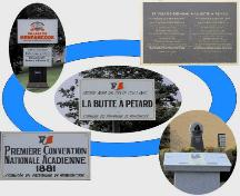 Butte à Pétard - Montage illustrating some of the elements of Butte à Pétard today; Memramcook Valley Historical Society