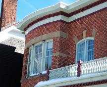 Corbett Residence - This photograph shows the projecting cornice and the window detail, 2005; City of Saint John