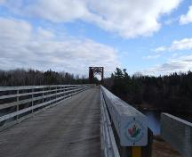 View from the west end of the Wallace River Railway Bridge, 2007.; Heritage Division, N.S. Dept. of Tourism, Culture and Heritage, 2007.