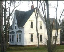 Colville House - Front and side view - Bay windows; Town of Sackville