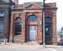 Bank of Montreal Building, Amherst NS, front facade; Heritage Division, Nova Scotia Department of Tourism, Culture and Heritage, 2006.
