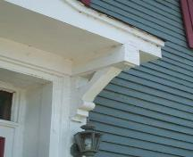 Decorative bracket, The Willow House, Pictou, 2006; Heritage Division, NS Dept of Tourism, Culture and Heritage, 2006