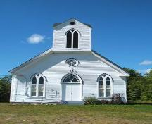 Front Elevation, West Branch United Church, West Branch, 2006; Heritage Division, NS Dept of Tourism, Culture and Heritage, 2006.