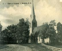 St. Paul's Anglican Church - Post card dated 1907 showing an old photograph of church ; Town of Sackville