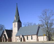 St. Paul's Anglican Church - Front Facade - Church property on Main Street; Town of Sackville