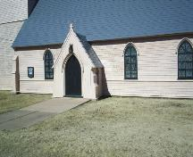 St. Paul's Anglican Church - Original Entry Door - Main Entrance from 1856 construction ; Town of Sackville