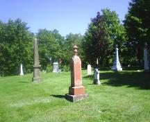 Sackville Cemetery - Early stones located in the pioneer section; Town of Sackville