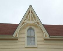 Front dormer detail of Riordan-Francis house, Annapolis Royal, Nova Scotia; Heritage Division, NS Dept. of Tourism, Culture and Heritage, 2007