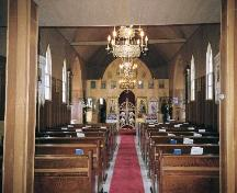 View of the sanctuary from the nave of St. George Romanian Orthodox Church, 2006; Ross Herrington, 2006