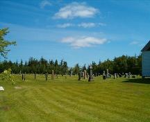 Cemetery, St. Denis Church, Minudie, Nova Scotia, 2005. ; Heritage Division, NS Dept. of Tourism, Culture and Heritage, 2005.