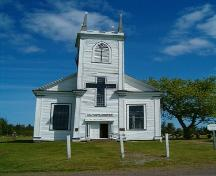 Front elevation, St. Denis Church, Minudie, Nova Scotia, 2005.; Heritage Division, NS Dept. of Tourism, Culture and Heritage, 2005.