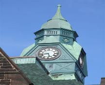 Clock tower, Old Amherst Post Office, Amherst, Nova Scotia, 2006. ; Heritage Division, NS Dept. of Tourism, Culture and Heritage, 2006.