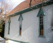 Side Elevation, Old Methodist Church, Chester, Nova Scotia, 2007.; Heritage Division, Nova Scotia Department of Tourism, Culture and Heritage, 2007.