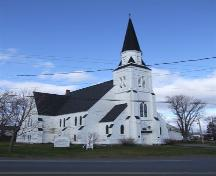 Front and west elevation, St. James United Church, Great Village, Nova Scotia, 2006.; Heritage Division, NS Dept. of Tourism, Culture and heritage, 2006.
