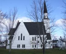 West elevation, St. James United Church, Great Village, Nova Scotia, 2006.; Heritage Division, NS Dept. of Tourism, Culture and heritage, 2006.