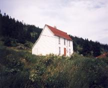 Exterior view of front and side facade, Mary Boland House, Calvert, NL.; HFNL 2007