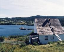 Exterior view of rear facade, Mary Boland House, Calvert, NL.; HFNL 2007