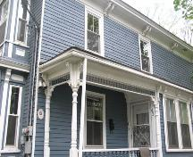 Archibald Beck House, porch detail, 2004; Heritage Division, N.S. Dept. of Tourism, Culture and Heritage, 2004