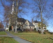 South elevation, Saint John the Evangelist Roman Catholic Church, Windsor, Nova Scotia, 2006.; Heritage Division, NS Dept. of Tourism, Culture and Heritage, 2006.