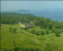 Ministers Island - Aerial View, 2002; PNB