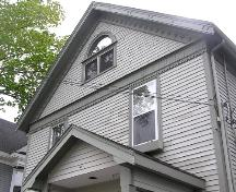 Lorenzo Spencer House, front gable detail, 2004; Heritage Division, N.S. Dept. of Tourism, Culture and Heritage, 2004