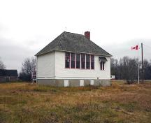 Primary elevations, from the southeast, of Boyne School, Carman area, 2005; Historic Resources Branch, Manitoba Culture, Heritage and Tourism, 2005