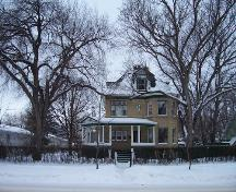 Primary elevation, from the east, of the Johnson House, Brandon, 2004; Historic Resources Branch, Manitoba Culture, Heritage and Tourism, 2004