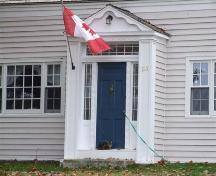Front entrance, Kinsman-Salsman House, Grafton, Nova Scotia, 2006.  ; Heritage Division, NS Dept. of Tourism, Culture and Heritage, 2006.