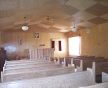 Interior of Hilton United Church, Hilton, 2006; Historic Resources Branch, Manitoba Culture, Heritage and Tourism, 2006