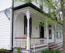 67 Duke Street, porch detail, 2004; Heritage Division, N.S. Dept. of Tourism, Culture and Heritage, 2004