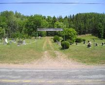 Bard John MacLean Cemetery main entrance, Glen Bard, Nova Scotia, 2005.  ; Heritage Division, NS Dept. of Tourism, Culture and Heritage, 2005.