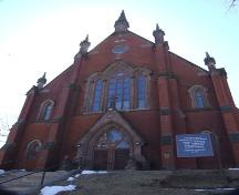 Front elevation, Grafton Street Methodist Church, Halifax, Nova Scotia, 2007.  ; Heritage Division, NS Dept. of Tourism, Culture and Heritage, 2007.