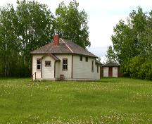 View from the southeast of the Marconi School, south of Riding Mountain National Park, 2005; Historic Resources Branch, Manitoba Culture, Heritage & Tourism 2005