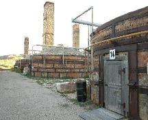 Beehive-style downdraft kilns with Dirt Hills in background, 2004.; Unknown