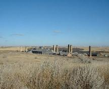View of the brick making complex from the southwest, 2004.; Government of Saskatchewan, Lisa Dale-Burnett, 2004.