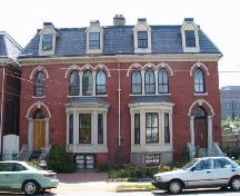 West-Buley House (right) and West-Osler House (left), 2146 and 2140 Brunswick Street, Halifax, NS, 2006.  ; Heritage Division, NS Dept. of Tourism, Culture and Heritage, 2006.