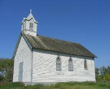 View of the south west elevation of the Roumanian Church, 2006.; Government of Saskatchewan, Brett Quiring, 2006.