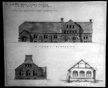 Design of the building was reversed from these plans when constructed; Confederation Centre Art Gallery