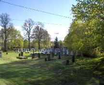 View from the east - darker foreground stones are early Roman Catholic graves; City of Charlottetown, Natalie Munn, 2007
