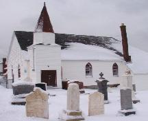 Exterior photo view of Heyfield Memorial United Church and Cemetery, 2007/01/10.; L Maynard, HFNL 2007