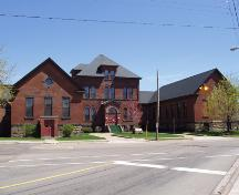 The original Moncton General Hospital building is now the easternmost half of the current structure.  It was built in 1903.; Moncton Museum