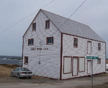 Exterior photo view of left gable end and front of James Ryan Shop, Elliston, 2006/03/26; L Maynard, HFNL, 2007