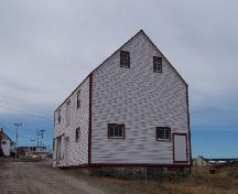 Exterior photo view of front and right gable end of James Ryan Shop, Elliston, 2006/03/26; L Maynard, HFNL, 2007