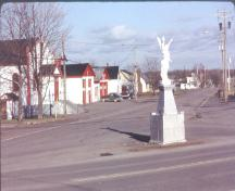 Angel of Cap-Pelé Monument - south view prior to its being moved a few meters to the west; Village of Cap-Pelé