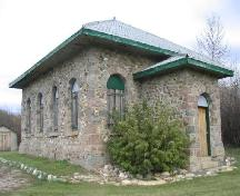 Front facade and stone work of the Town of Watrous Pumphouse, 2005.; Government of Saskatchewan, Brett Quiring, 2005.