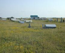 Rows of grave houses in the Jewish Cemetery, 2004; Government of Saskatchewan, Bernie Flaman, 2003