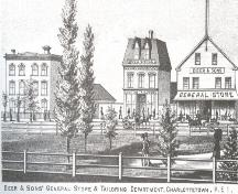 View of Beer and Sons' Store which once faced the Square; Meacham's Illustrated Historical Atlas of PEI, 1880